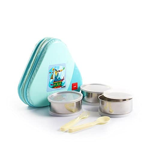 Cello Eat-N-Eat 3 Container Plastic Lunch Packs