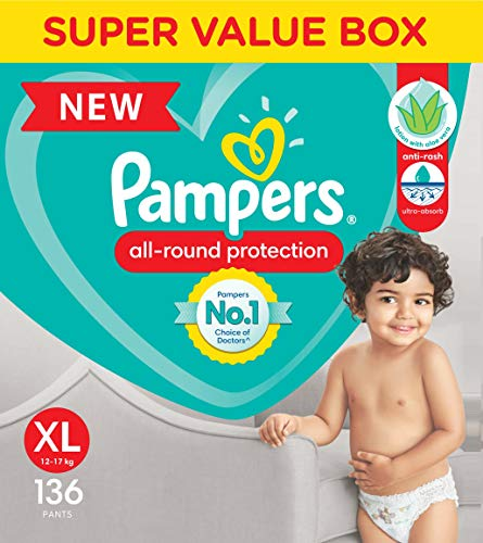 pampersExtra Large size baby diapers (XL),