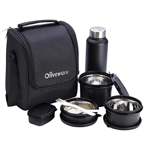 Oliveware Teso Lunch Box with Bottle