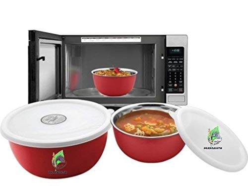 Parasnath Microwave Safe Stainless Steel Euro Lid